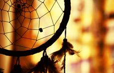 Dreamcatcher in silhouette