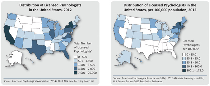 how many psychologists are licensed in the united states