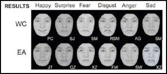Facial expression chart
