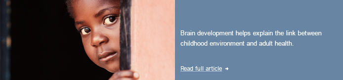 Link between childhood environment and adult health