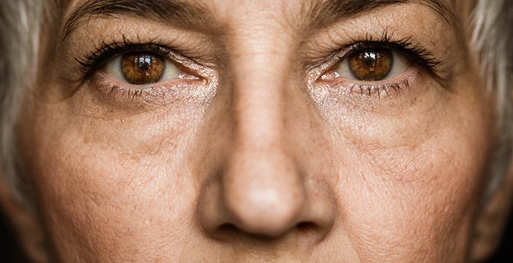 closeup of a woman's eyes