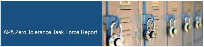 apa zero tolerance task force report