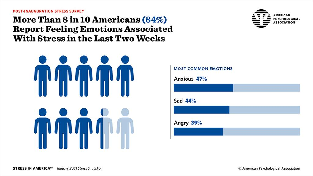 More Than 8 in 10 Americans Report Feeling Emotions Associated With Stress in the Last Two Weeks