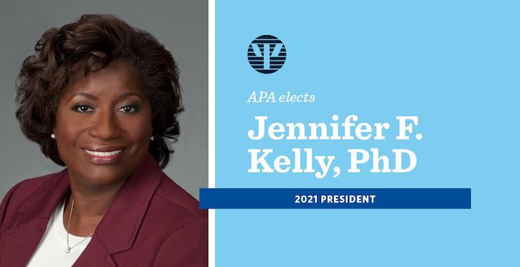 APA Elects Atlanta Center for Behavioral Health Director Jennifer Kelly 2021 President