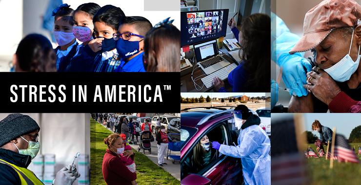 stress in america collage di persone