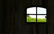 Window view from inside a house