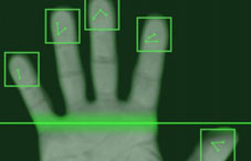 Hand being scanned