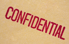 "The word ""Confidential"""