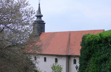 Side view of a church