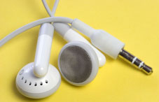 White iPod earphones