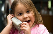 Young girl on telephone
