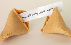 Fortune cookie with paper inside