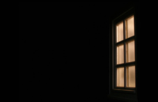 Window in a dark room