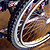 Wheelchair bicycle tire