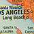 Map closeup of Los Angeles
