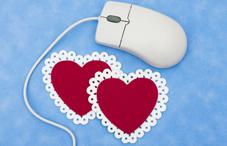 Hearts and computer mouse