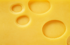 Closeup of a piece of cheese