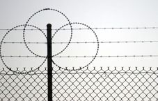 Razor wire on a fence