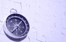 Compass on a puzzle
