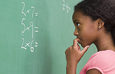 Girl doing math