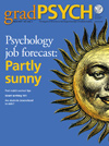 March 2011 gradPSYCH Magazine cover
