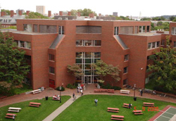 The Harvard Kennedy School of Government, where Monica worked as a Research Fellow