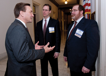 Rep. Rick Berg (R-N.D.) and North Dakota psychologists Dr. Matthew Doppler, (left) and Dr. Mark Doerner (credit: APA photo)