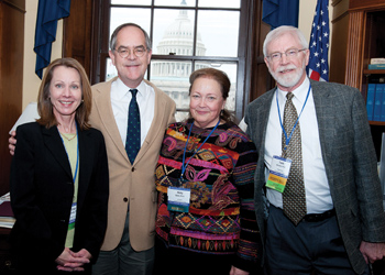 Left to right, Dr. Nicky Ozbek; Rep. Cooper; Dr. Lisa Oglesby; Dr. Frank Edwards (credit: APA photo)
