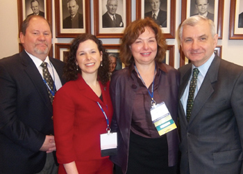 Left to right, Jack Hutson; Dr. Wendy Plante; Dr. Leslie Feil; Sen. Reed (credit: APA photo)