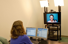 Psychologist using telehealth (credit: Gregg Perry)