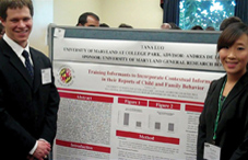 University of Maryland undergraduate researcher Tana Jin Luo, right, with adviser Dr. Andres De Los Reyes