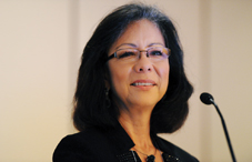 "APA President Dr. Melba J.T. Vasquez called on psychologists to be ""proactive in addressing critical social problems."" (credit: Lloyd Wolf)"