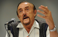From 'Dr. Evil' to the 'Good Witch of the West': Dr. Philip G. Zimbardo shared how the Stanford Prison Experiment led to his current work on heroism. (credit: Lloyd Wolf)