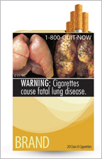 Graphic cigarette warning label