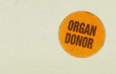 Organ donation sticker