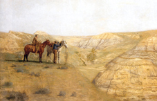 "Thomas Eakins's ""Cowboys in the Badlands"" was influenced by his West Cure out West."