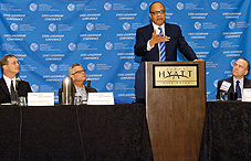 Left to right: Dr. James L. Werth, Radford University; Dr. Alan Lowenthal, California state senator; Eugene Robinson, Washington Post columnist and MSNBC political analyst; Peter Newbould, APA Practice Organization