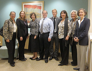 From left to right: Nina Levitt (Education Directorate), Diane Elmore (Public Interest Directorate), Ellen Garrison (Public Policy), Steve Breckler (Science Directorate), Per Halvorsen, Gøril Wiker, Merry Bullock (International Affairs), and Katherine Nordal (Practice Directorate)