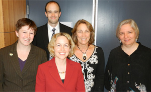 From left: Asylum Network Coordinator Kelly Holz; Attorney Mike Corradini; Asylum Program Director Christy Fujio; Dr. Coleen Kivlahan; Dr. Joanne Ahola