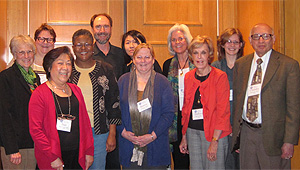From left: Susan Opotow, Sally Leverty (OIA), Jean Lau Chin, Tina Richardson (Co-Chair), Puncky Heppner (Co-Chair), Virginia Kwan, Bonnie Nastasi, Merry Bullock (OIA), Barbara Byrne, Dana Townsend (OIA), Chandra Mehrotra (Not pictured: Chris Stout)