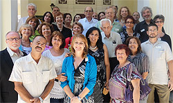 APA's delegation with Cuban colleagues from the Ministry of Health (MINSAP), The Cuban Society of Psychologists, and the National Health Psychology Group of MINSAP