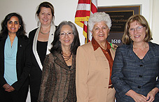 From left to right, Dr. Usha Tummala-Narra, Dr. Carola Suárez-Orozco, Dr. Melba Vasquez, Rep. Grace Napolitano (D-Calif.) and Dr. Dina Birman