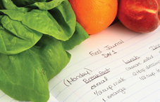 Keeping a food journal is key to losing weight