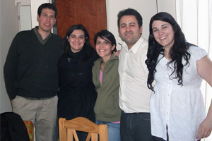 AACP Board of Directors (from left to right): Ezequiel Benito (President), Mariana Elmasian (Treasurer), Corina Calabresi (former member), Fernando Polanco (Vice President), and Milagros Martínez (Secretary)