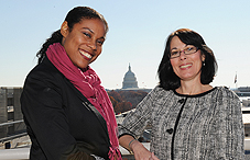 Drs. Tiffany Griffin (left) and Valarie Molaison are the latest alumnae from APA's Congressional Fellowship Program