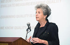 """Higher education has to justify the investment that is made,"" said Dr. Judith S. Eaton (credit: Charles Votaw)"