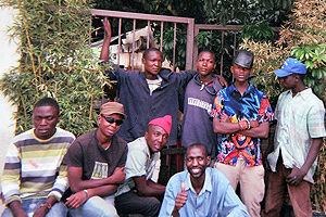 Participants in the Arusha Street Youth in Transition Project Meeting outside Bamboo Restaurant, Spring 2012