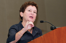Syracuse University Chancellor Nancy Cantor described a vision for putting psychological science to work in the community