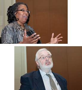 From top: Dr. Pamela E. Scott-Johnson and Dr. Kurt Geisinger