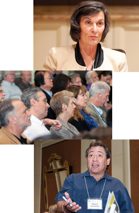 From top: Dr. Toni Antonucci, attendees and Dr. Edward Castañeda